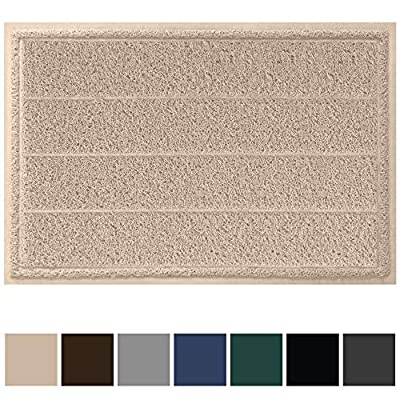 Gorilla Grip Original Durable Indoor Door Mat, 35x23, Large Size, Heavy Duty Doormats, Commercial Waterproof Stripe Doormat, Easy Clean, Low-Profile Mats for Entry, Garage, High Traffic Areas