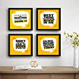 SAF Motivational Set of 4 UV Textured Painting (19 x 19 Inches, SAF_SET4_30)