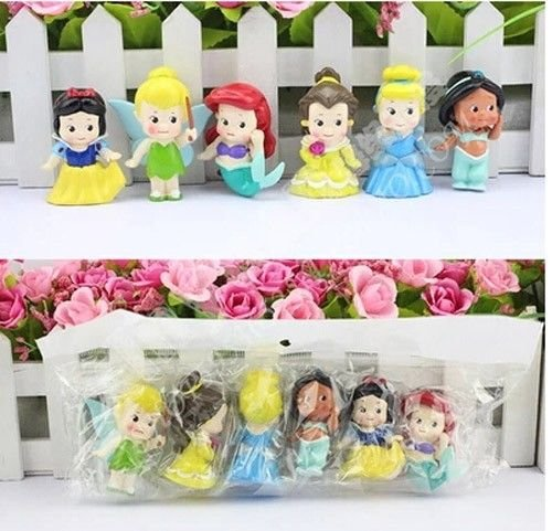 [New 6pcs/set Baby princess figure snow white series toys 4-5cm] (Homemade Monkey Costumes For Babies)