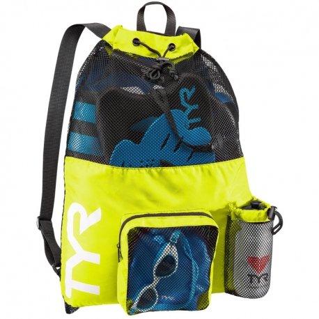 TYR Big Mesh Mummy Backpack, Orange, One Size