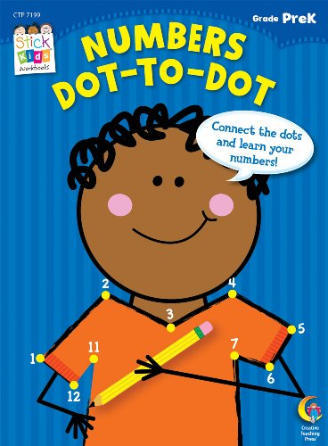 Numbers: Dot-to-Dot Stick Kids Workbook, Grade PreK (Stick Kids Workbooks)