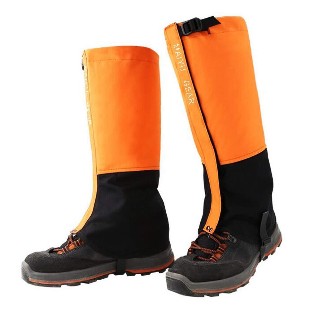 MAIYU 1 Pair Snow Gaiters, Hiking Camping Mountain Climbing Leg Gaiters Oxford Waterproof Dustproof Antiwater Leg Cover Breathable Anti-bite High Gaiters Leg Protection Guard Boot Guardian