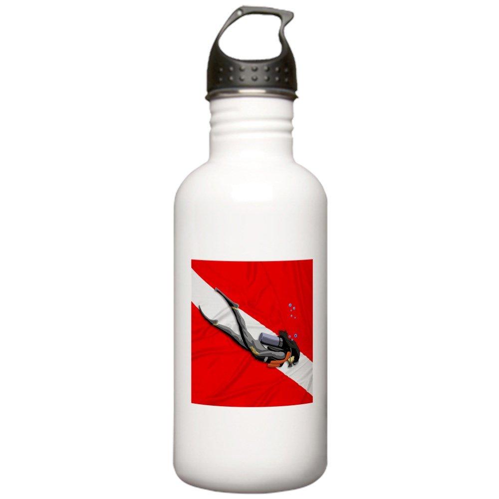 CafePress diseño de bandera de buceo - botella de agua ...
