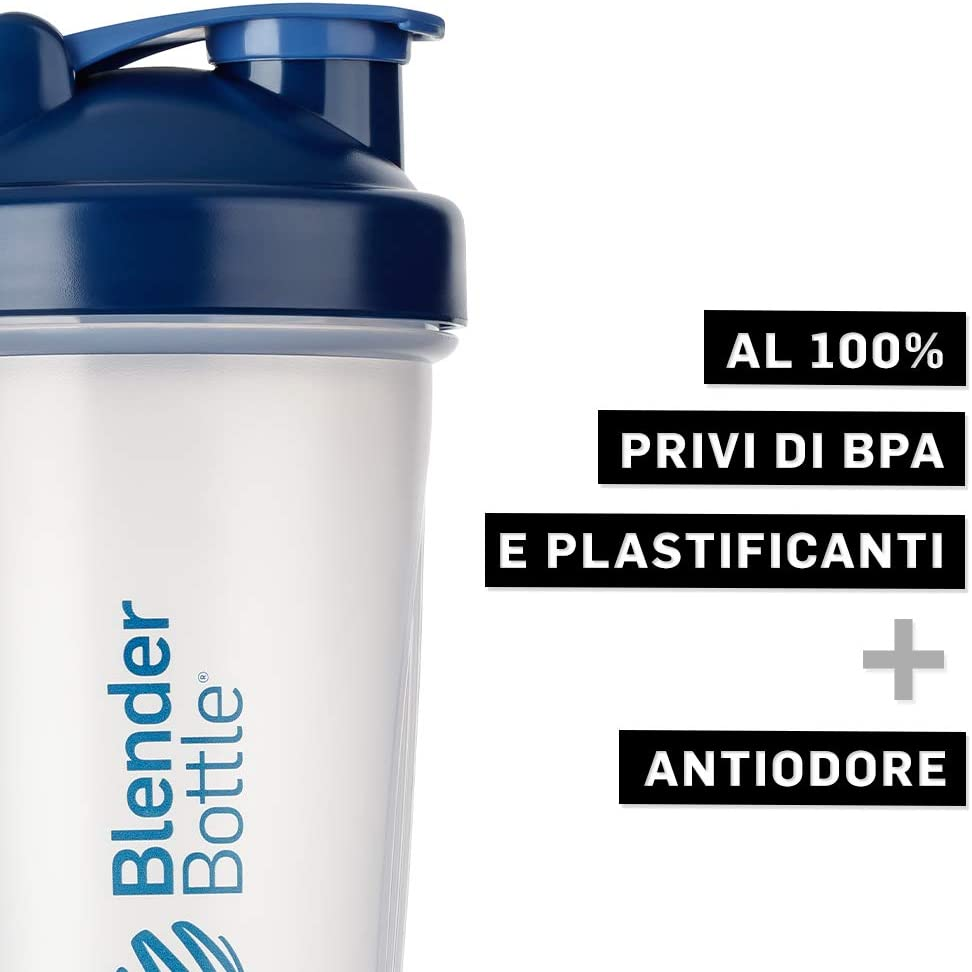 Borraccia Bottiglia per Acqua 820 ml BlenderBall BlenderBottle Classic Shaker per frullati di proteine