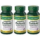 Nature's Bounty Probiotic Acidophilus, 360 Tablets (3 X 120 Count Bottles)