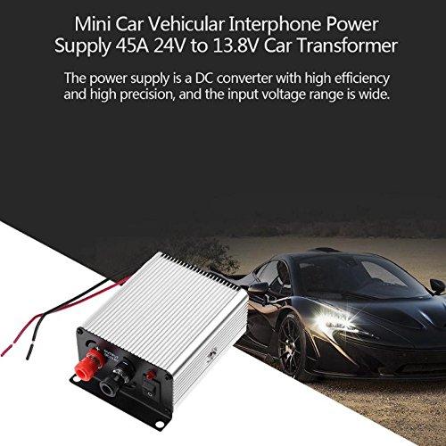 (Xligo Mini Car Vehicular Interphone Power Supply 45A 24V to 13.8V Auto Transformer Converter Adapter DC18V-36V)