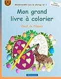 BROCKHAUSEN Livre de coloriage vol. 1 - Mon grand livre à colorier: Oeuf de Pâques