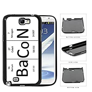 BaCoN Periodic Table Elements Hard Plastic Snap On Cell Phone Case Samsung Galaxy Note 2 II N7100