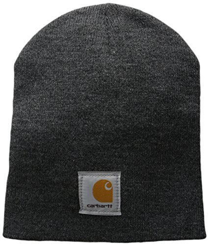 Beanie Mens Casual Hats - Carhartt Men's Acrylic Knit Hat, Coal Heather, One Size
