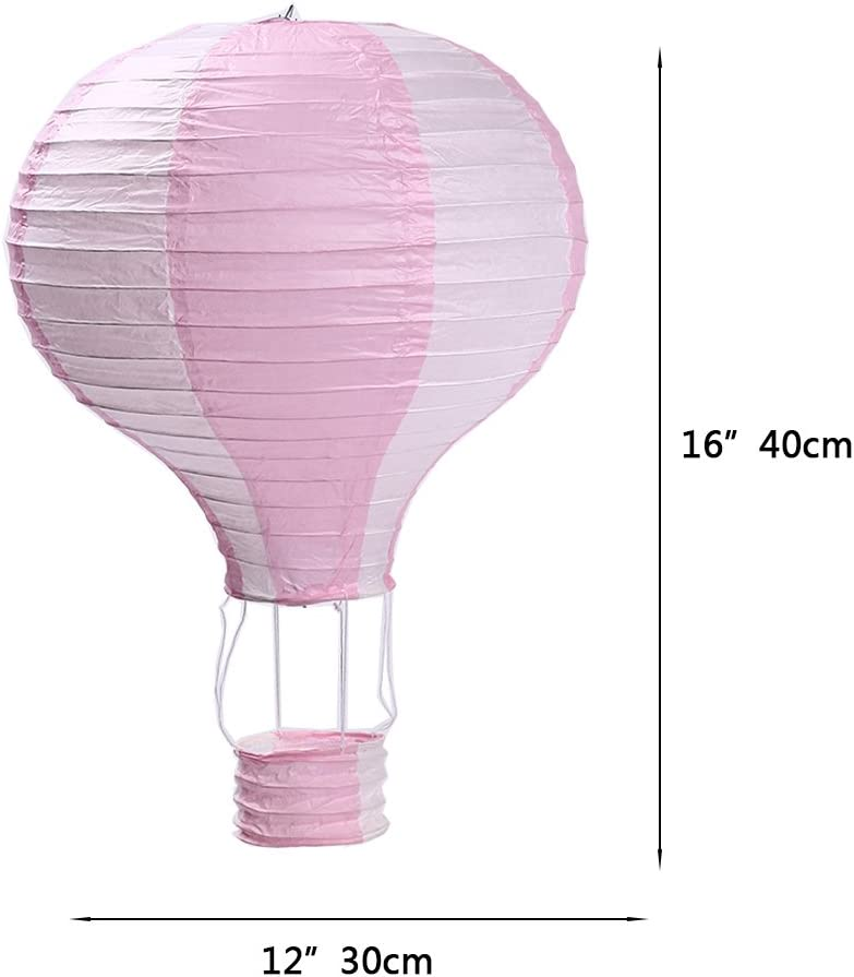 Hot Air Balloon Paper Lanterns for Wedding Birthday Engagement Christmas Party Decoration Christmas Set Pack of 6