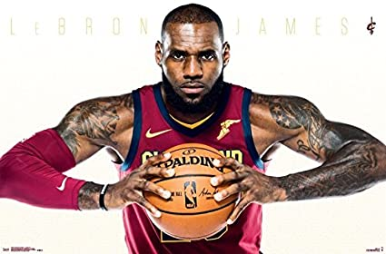 b89d7e6548ae Amazon.com  LeBron James Poster - Cleveland Cavaliers - 34