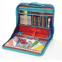 ezDesk Modelo T100 EZ02-ADT100-12 Kit de actividades estilo portátil de con accesorios de escribir y hacer artesanías, de viaje