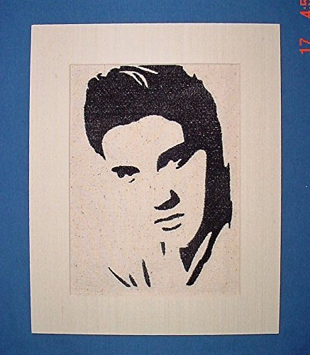 - Elvis Presley silhouette stitched wall art, decor, poster, picture,