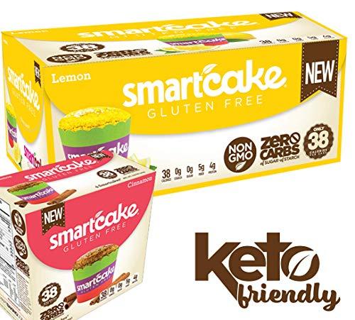 SMARTCAKE BUNDLE: 1x LEMON SHIPPER and 1x CINNAMON GOURMET BOX: GLUTEN FREE, SUGAR FREE, LOW CARB SNACK CAKES: 10x twin packs (20 individual cakes)