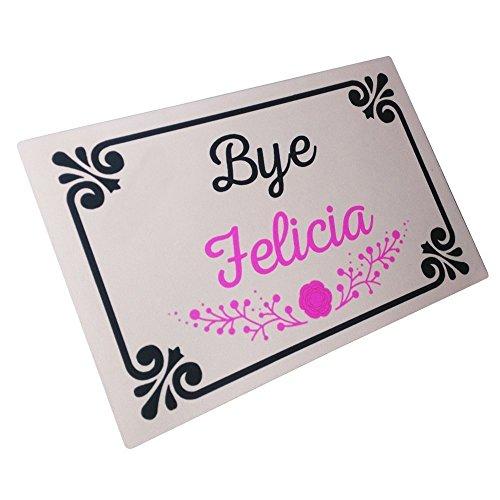 Crystal Emotion Bye Felicia Durable Machine-washable Indoor/outdoor Entrance Doormat