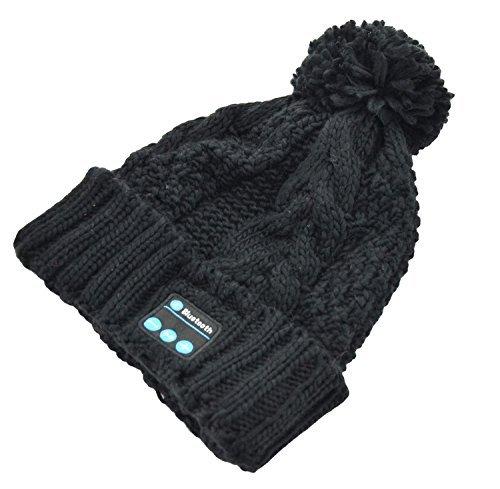 Winkeyes Outdoor Sports Bluetooth cap Music Hat Headphone Beanie Lovely Answer Phone Hat (black)