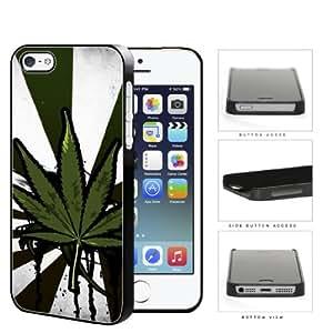 Starburst Weed Leaf Grunge Bleeding Ink Hard Plastic Snap On Cell Phone Case Apple iPhone 5 5s