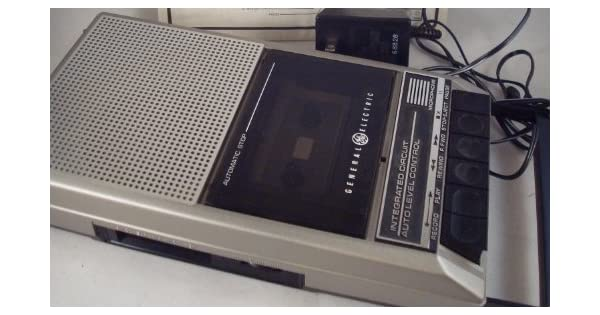 Amazon.com: GE General Electric Grabador de cassette Slim ...