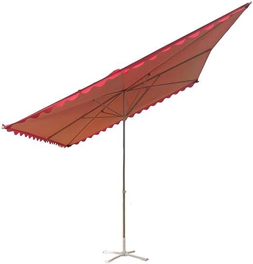 MENG Parasol Sombrillas De Jardín Sombrillas Cuadradas De Exterior Sombrillas Inclinables Varios Tamaños para Terrazas Al Aire Libre, Playas, Piscinas, 3 * 4m 6 Bones: Amazon.es: Jardín