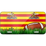 Football with Flag Ibiza region Spain Metal License Plate 6X12 Inch