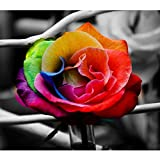 #3: Wizland 5D DIY Diamond Painting Full Drill Round Resin Beads Pictures Floral of Crystals Diamond Dotz Kits,Arts, Crafts & Sewing Cross Stitch