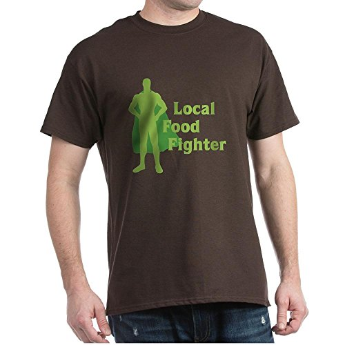 CafePress Local Food Fighter 100% Cotton T-Shirt Brown