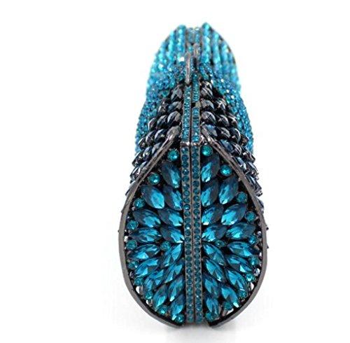 main mariage Evening Darkblue Bag Luxury main à Crystal les de de Femmes clubs sac la Glitter pour sac Banquet à Clutch fête Diamond qUEppO