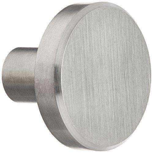 Stainless Steel Steel Knobs - Laurey 89301 Cabinet Hardware Stainless Steel Knob, 1-1/2-Inch