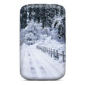 Hot Design Premium NrQImEN7540GpSUA Tpu Case Cover Galaxy S3 Protection Case(forest's Winter)