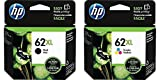 Genuine HP 62XL Black and HP 62XL Tri-color Combo Pack in Retail Packaging! USA Market only! Not EU or Grey Market Foreign Imports! C2P05AN#140 C2P07AN#140