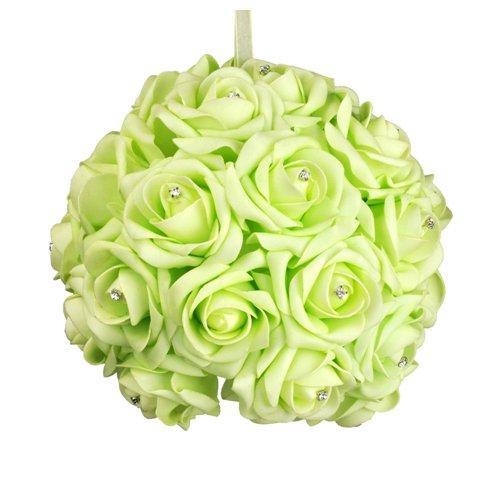 Galt International 8-Inch Green Flower Pomander Kissing Ball (Green Kissing Ball)
