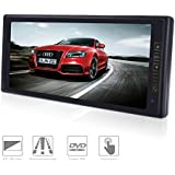 Rear View Mirror Monitor 8.9-Inch TFT-LED High Resolution Display Screen for DVD/VCR/Car Parking Reverse System 2 Ways Video Inputs Car LCD Digital Monitor 12V/5 W - Black