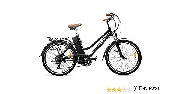 Moma Bikes Ebike 26 ALU 7V 36V250W Lithium V-Brake Ebike 26 ALU 7V 36V250W Lithium V-Brake Negro: Amazon.es: Deportes y aire libre