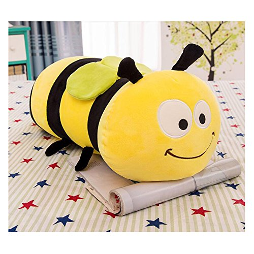HYL World 17.7 Inches Cute Stuffed Bee Plush Bumblebee Animal Toy Pillow
