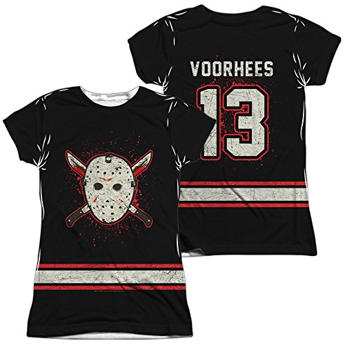 Front/Back Junior Fit - Friday The 13th - Jason Voorhees Costume Jersey All Over Print T-Shirt