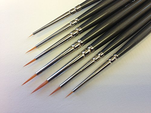 Modelmakers Miniature Set of 7 Ultra Fine Detail Brushes