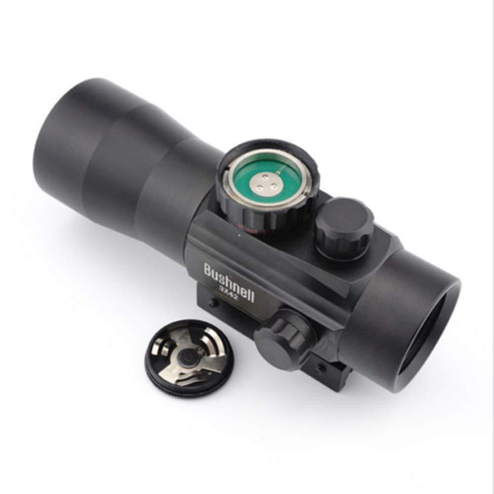 Noir YGQersh Scope Carabine Tactique de Chasse 3x42RD holographique Rouge//Vert Cross Sight Light Sight