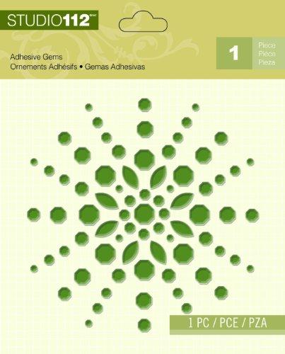 - Wilton K&Company Studio 112 Green Shape Adhesive Gem