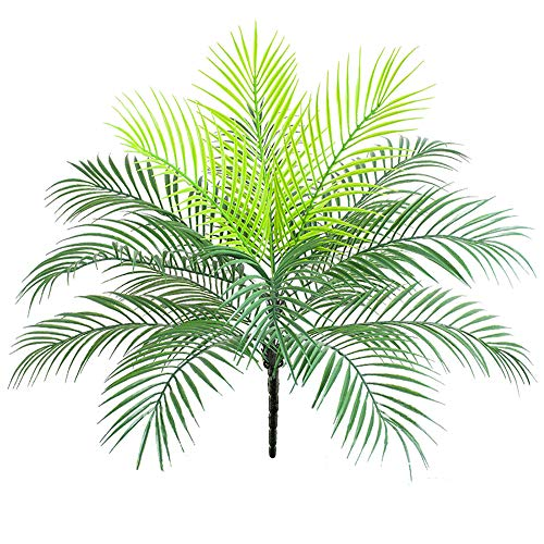 Artificial Palm Leaves Plants Leaves Tropical Greenery Bush Imitation Faux Fake Palm Tree Leaf for Home Kitchen Party Flowers Arrangement Wedding Decorations - 25 Flower Inch