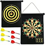 Nantucket Home 2-in-1 Magnetic Roll-up Dart Board and Bullseye Game with 6 Darts