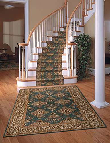 Momeni Rugs PERGAPG-01TEB5080 Persian Garden Collection, 100% New Zealand Wool Traditional Area Rug, 5' x 8', Teal Blue