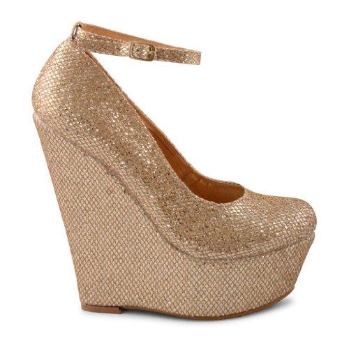 Footwear Sensation - Zapatos de vestir de sintético para mujer dorado - dorado