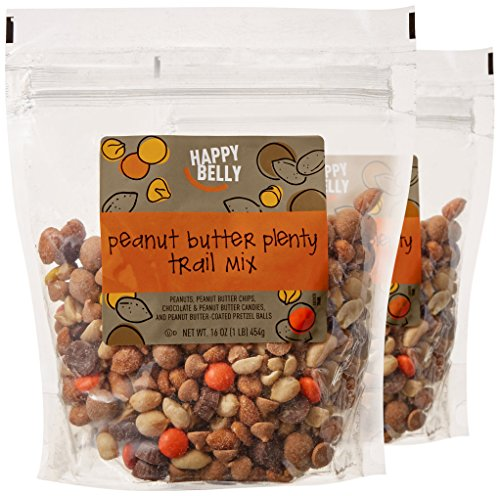 Amazon Brand - Happy Belly Peanut Butter Plenty Trail Mix, 16 oz (Pack of ()