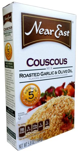 Near East COUSCOUS Mix ROASTED GARLIC & OLIVE OIL 5.8oz (3 Pack) by Near East