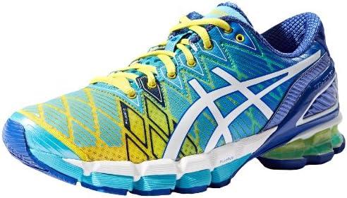 Zapatillas de running Gel-Kinsei 5 para mujer, amarillas / blancas / turquesas, 11.5 M US: Amazon.es: Zapatos y complementos