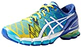 ASICS Women's Gel-Kinsei 5 Running Shoe,Yellow/White/Turquoise,11.5 M US