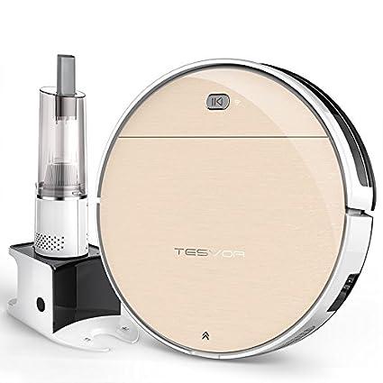 Tesvor v300s Wi-Fi Robot aspirador con aplicación gratuita, aspiradoras de mano fuerte para