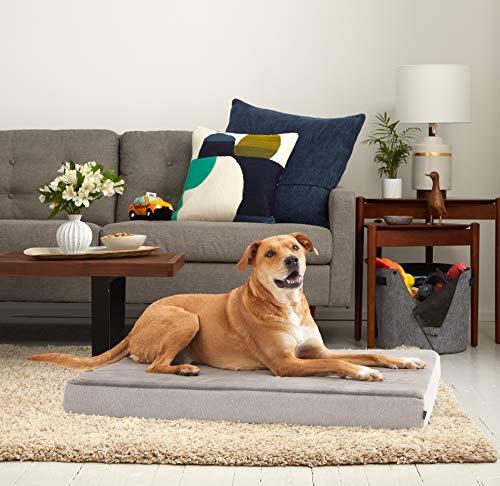 BarkBox X-Large Jumbo Gray Plush Orthopedic Memory Foam Dog Bed or Crate Mat | Removable Washable Cover - Free Surprise! by BarkBox (Image #5)