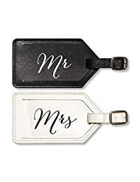 C.R. Gibson True Love Luggage Tag Set, Mr. and Mrs.