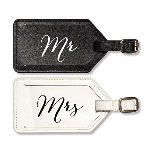 C.R. Gibson True Love 2-Piece Luggage Tag Set, Mrs